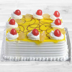 Eggless Pineapple Cake (1Kg)