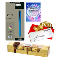 Wonderful Birthday Pack of Parker Pen, Card, Chocolate and Pantaloons Gift Voucher