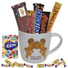 Fascinating Chocolate Combo with Gemini Astrological Sign Printed Mug