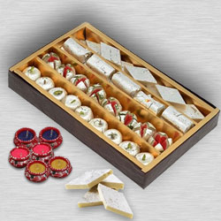 Assorted Sweets with  Diya