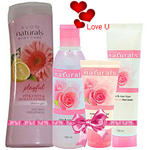 Exciting Avon Naturals Rose Beauty and Bath Hamper for Ladies