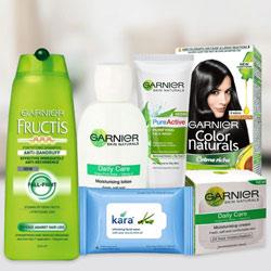 Entertaining Gift Pack of Garnier Skin N Hair Care Product for Women
