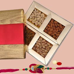 Premium Assorted Dry Fruits with Free Rakhi and Roli Tilak Chawal