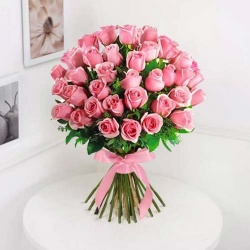 Sweet Memories with Love 30 Pink Roses Bouquet