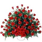 Luminous 100 Dutch Red Roses Bouquet with Love