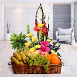 Pretty Flowers and Luscious Fresh Fruits with Incredible Love