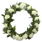Aromatic Tribute Carnations Wreath