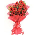 Magnificent Bunch ofGerberas in Red Colour