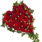 Beautiful Fresh Heart Shape Red Roses Premium Arrangement