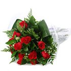 Glorious Dreams of Joy Red Roses Bunch