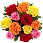 Striking My Heart to Yours Mixed Roses Bouquet