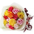 Glorious 12 Mixed Roses Bunch