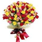 Multicolored Bouquet of Premium Mixed Roses