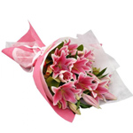 Sauve Bouquet of Pink Lilies