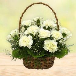 Shop for a fresh White Carnations basket