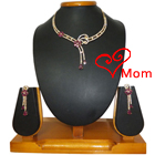 Creative Sequin Necklace with Earrings Set