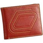 Stylish Zig Zag Designed Genuine Leather Brown Gents Leather Talks Wallet