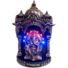 Divine looking led lighted puja darbar with ganeshji to bring happiness and prosperity in you lives