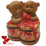 Adorable Couple Teddy with a Heart