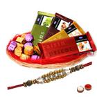 Wonderful Chocolate Gift Basket with Pearl Rakhi