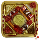 Tempting Embrace Rakhi Chocolate Thali