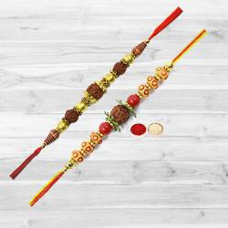 Ecstatic Rakhi of Rudraksha with Expressed Love