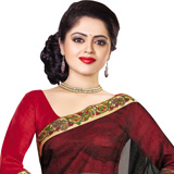 Ornamented Splendor Black Supernett Saree