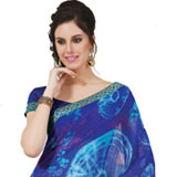 Amazing Multicolor Faux Georgette Saree