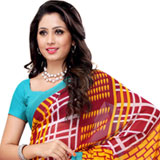 Astonishing Heavy Dani Georgette Printed Saree Coloured in Maroon and Turquoise
