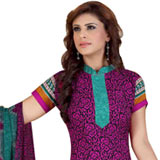 Attractive Crepe and Chiffon Fabric Printed Salwar Suit from Siya