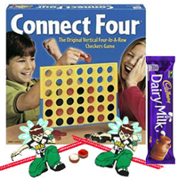 Connect 4 – A Classic game for All Ages with 2 Ben 10 Rakhi and Roli Tilak Chawal