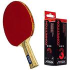 Enjoy Sport with Stiga  Table Tennis Racquet 2pcs set,Stiga Competition 3 Star Table Tennis Ball - 3