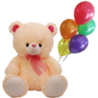 Adorable Love Teddy Paired with Balloons