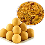 Mix Namkeen And Besan ladoo