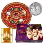 Diwali Thali with Haldiram Soan Papri