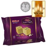Haldiram Soan Papdi l with Silver Plated Coin
