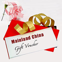 Mainland China Gift Vouchers Worth Rs.4500