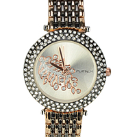 A Fashionable Womens Watch adorned with American Diamonds