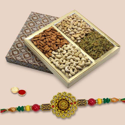 Holy Om Rakhi With Mix Dry Fruits