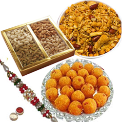 Charming Rakhi Hamper of Traditional Treats