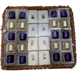 Decorated Platter of 28 pcs. Handmade Chocolates