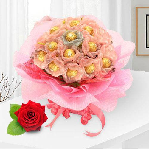 Ferrero Rocher Bouquet for V-Day