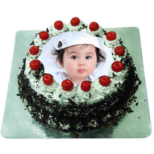 Fanciful Palate 1 Kg Black Forest Photo Cake
