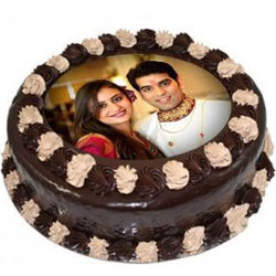 Deliver Chocolate Photo Cake Online