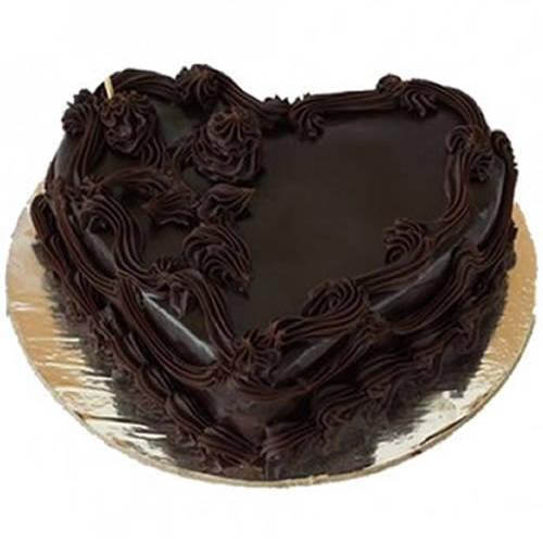 Order Online Heart-Shape Chocolate Cake