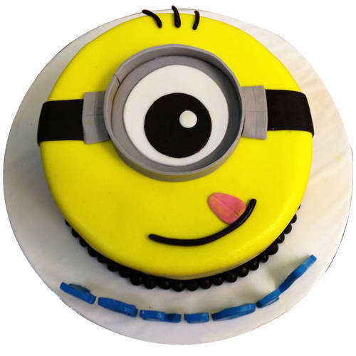 Order Kids 1 eyed Minions Fondent Cake Online
