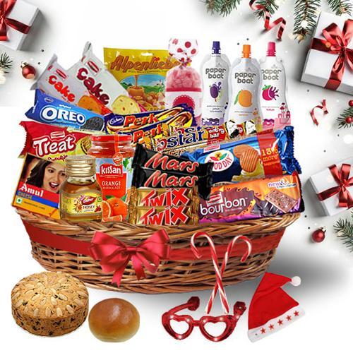 Yummy Christmas Treat Basket<br>