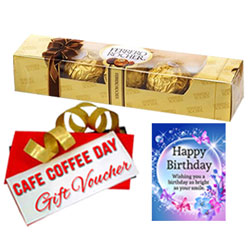 Exclusive Gift of Ferrero Rocher, CCD Voucher with Birthday Card