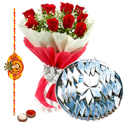 Amazing Array of Sweets and Roses on Rakha Bandhan