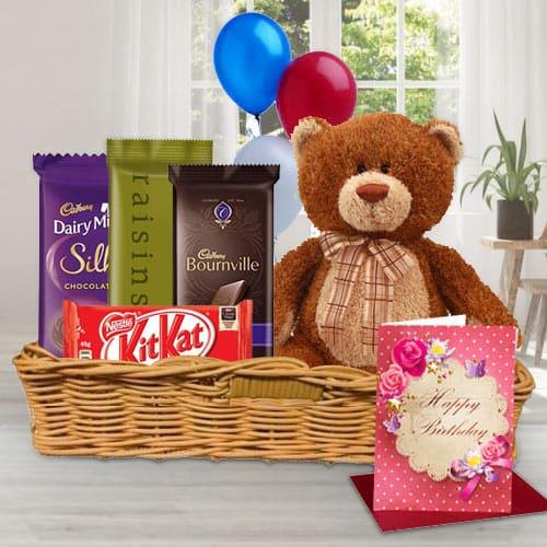 Online Gift Basket of Birthday Gifts N Chocolates